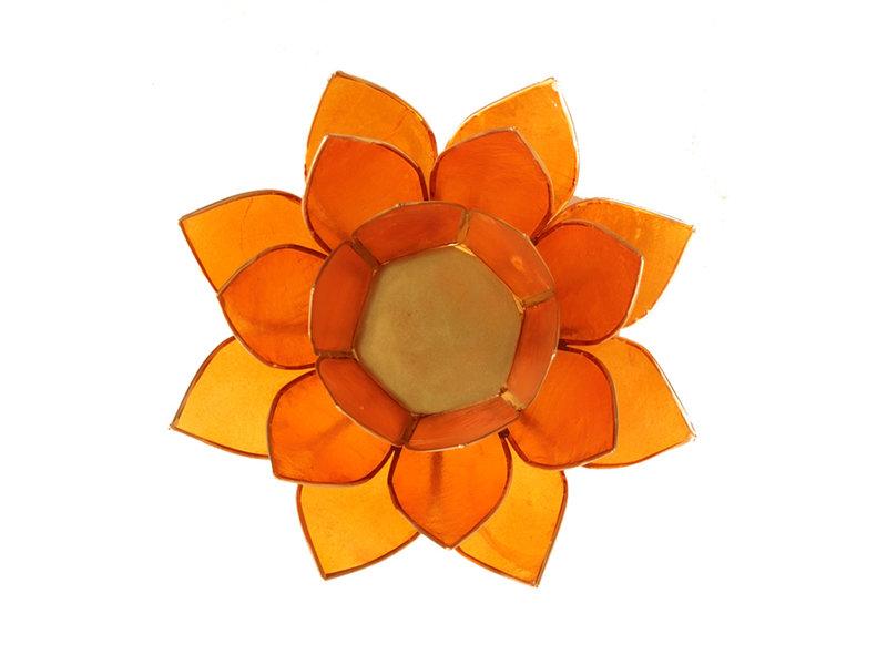 Waxinehouder Lotus - Oranje