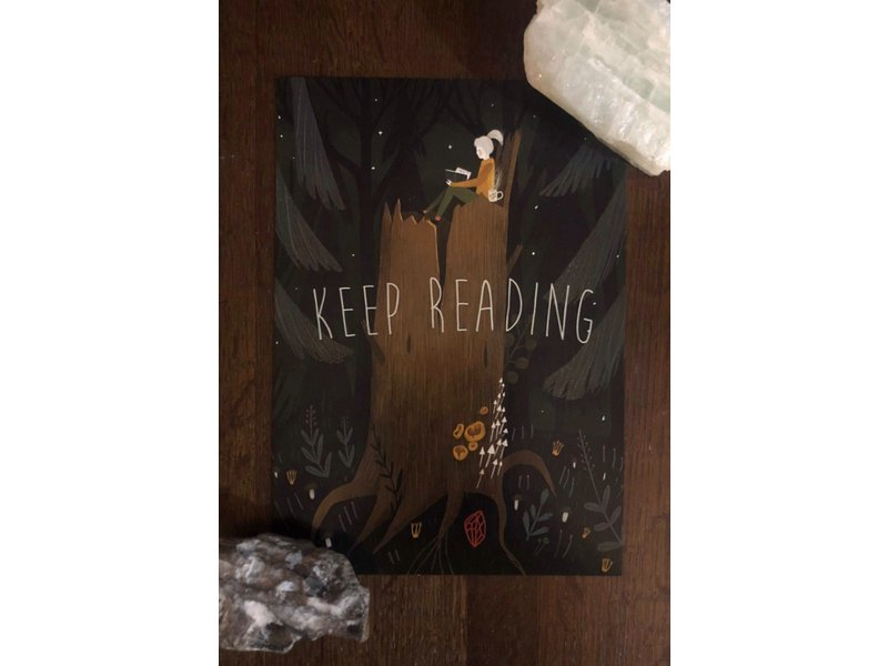Alexandra Dvornikova Ansichtkaart - Keep Reading
