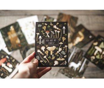 Ansichtkaart - You Are My Forest  (zwart)