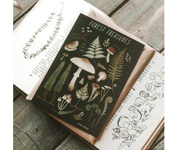 Ansichtkaart - Forest Treasures (zwart)