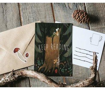 Ansichtkaart - Keep Reading