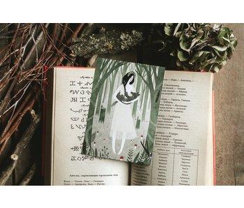 Ansichtkaart - De Wolf en het Meisje