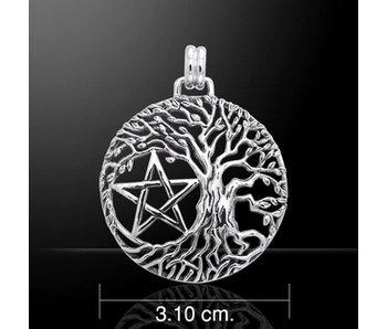 Hanger Levensboom met Pentagram Zilver Z24