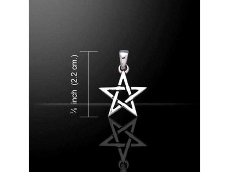 Hanger Pentagram Zilver