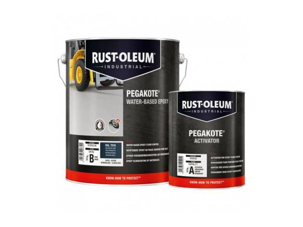 Rust-oleum Pegakote Epoxy Vloercoating voor binnen - 4 Kilo - Zijdeglans