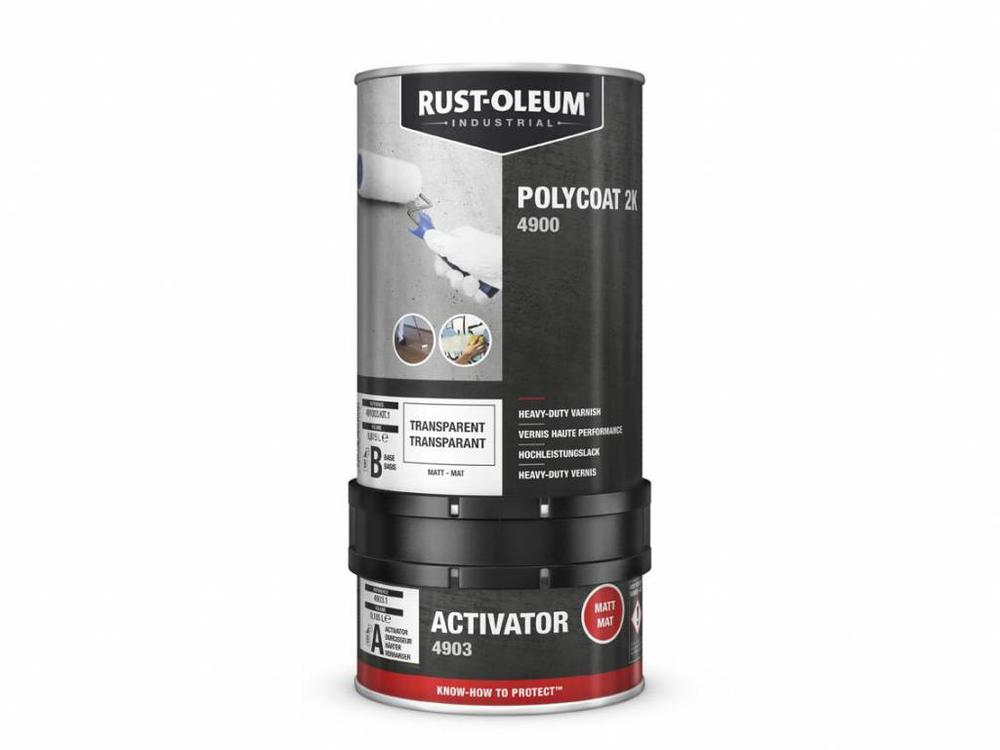 Rust-oleum Polycoat 2K Heavy Duty Vernis  - Waterbasis - Transparant
