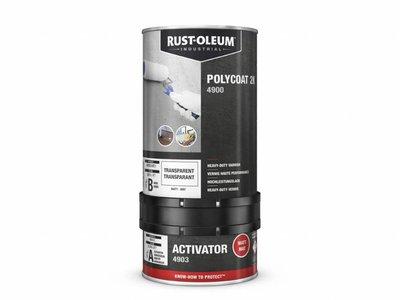 Rust-oleum Polycoat 2K Heavy Duty Vernis - Waterbasis - Transparant