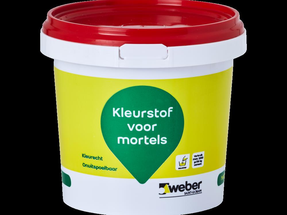 Weber kleurstof voor Cement, Kalk en Gipsmortels