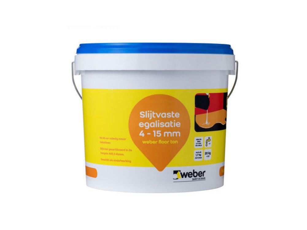 Weber Beamix Weberfloor ton - slijtvaste vloer egalisatie