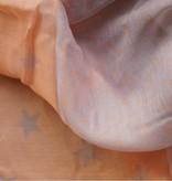 Grijze met zalmkleurige sterrensjaal
