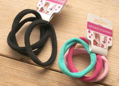 Haarklemmen en elastieken