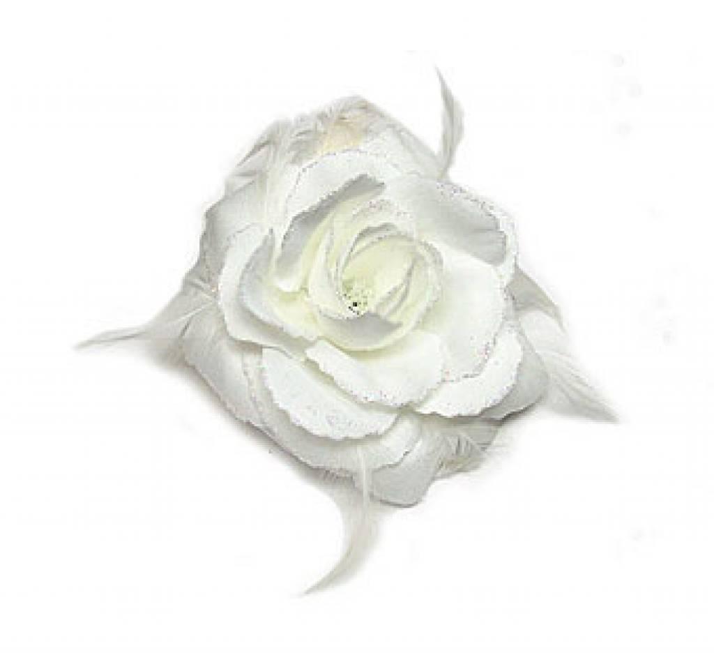 Witte bloem corsage / elastiek