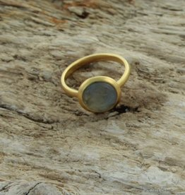 Treasure Rookie Ring Full Moon labradorite