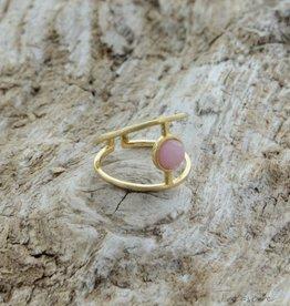 Treasure Rookie Wink eye ring roze quartz