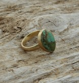 Treasure Rookie Wild drop ring copper turquoise