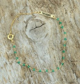 Treasure Rookie Starry sky groene armband