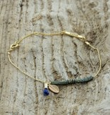 Treasure Rookie Columbussy grijs/blauwe armband