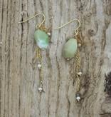 Treasure Rookie Pacific Pearls oorbellen lime kleur