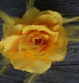 Gele bloem corsage