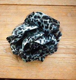 Dierenprint corsage (zwart/wit)