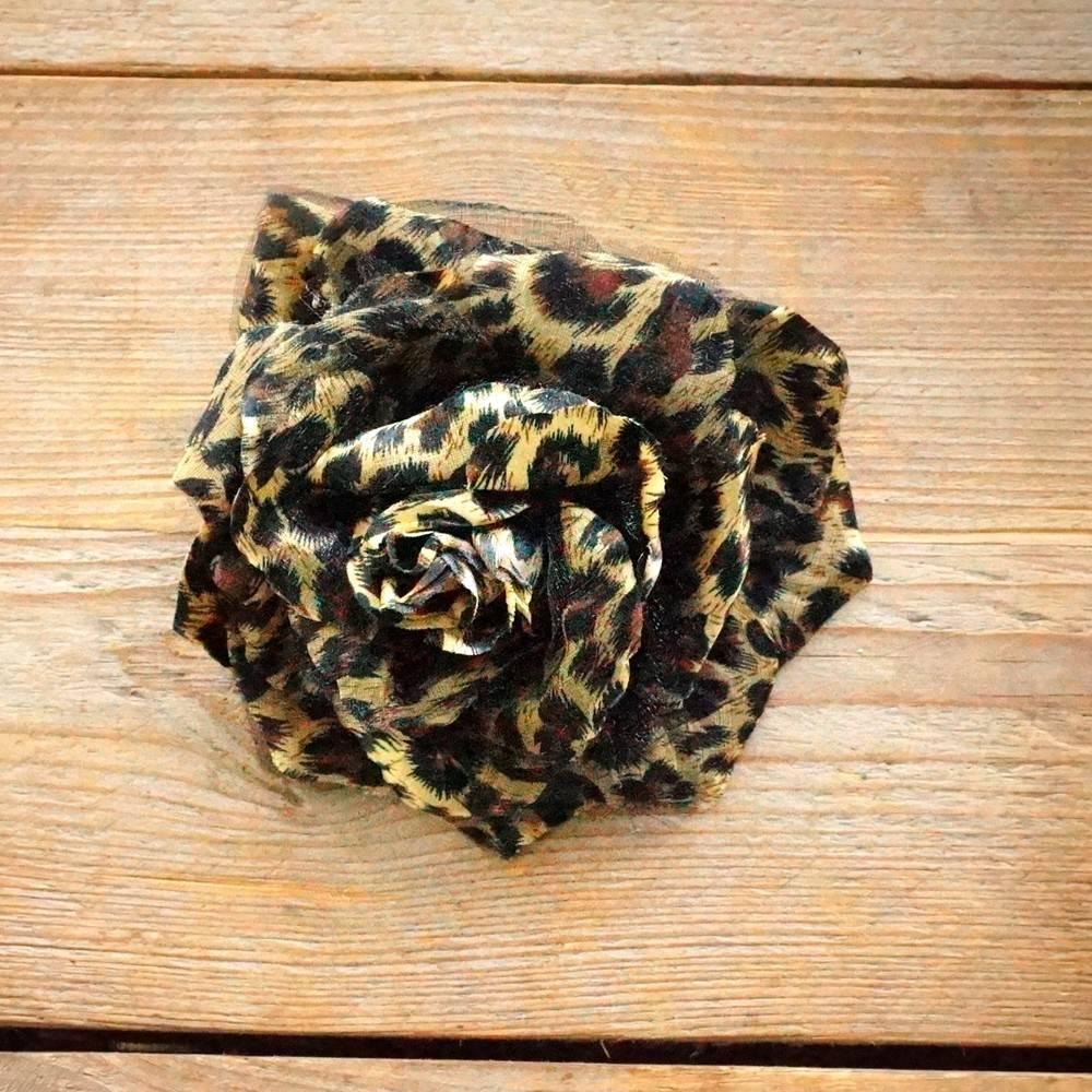 Dierenprint corsage (bruin/caramel)