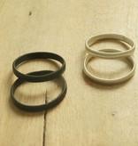 Mouwophouders (zwart & zilverkleurig)