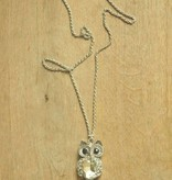 Ketting uil klein strass