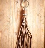 Taupekleurige hanger met franje