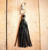 Zwarte hanger met franje