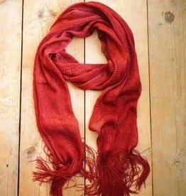 Rode glittersjaal