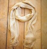 Goudkleurige gehaakte sjaal