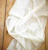 Witte glitersjaal