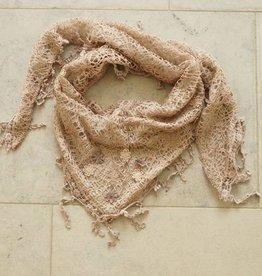 Licht bruine kanten sjaal