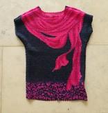 roze blauw bubbleshirt