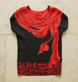 zwart rood bubbleshirt