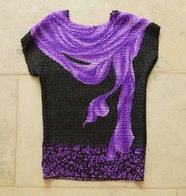 zwart paars bubbleshirt
