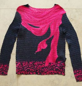 Blauw roze bubbleshirt lange mouw