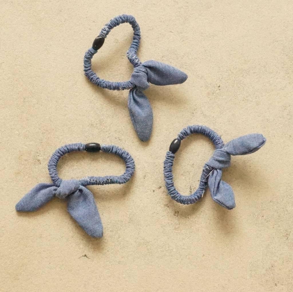 Drie elastieken bunny jeans