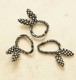 Drie elastieken bunny stip zwart