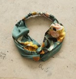 Haarband zeegroen botanic