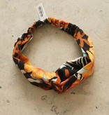 Haarband zwart oranje