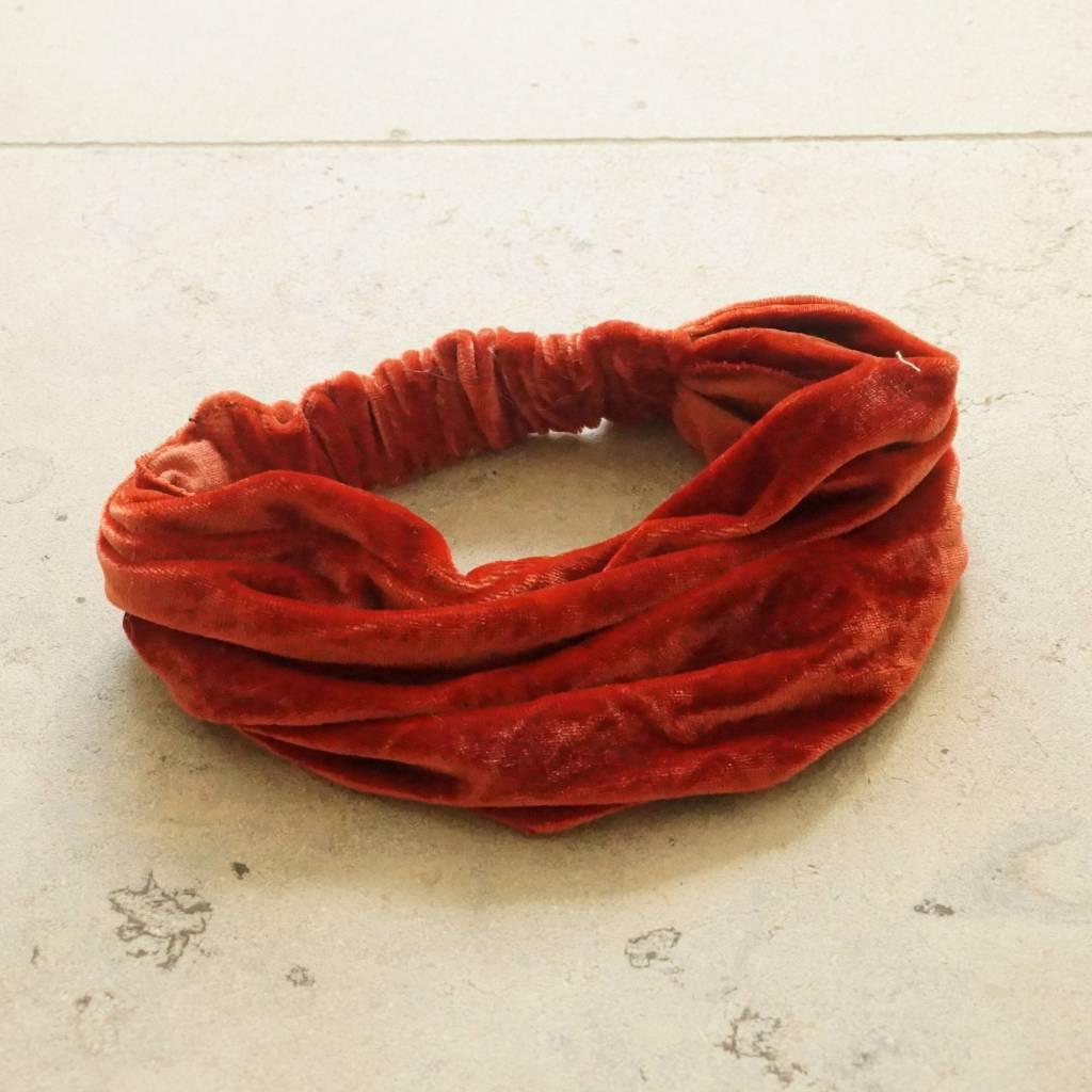 Haarband terra fluweel