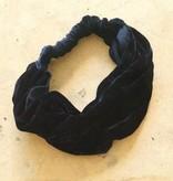 Haarband donker blauw fluweel