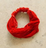 Haarband rood fluweel