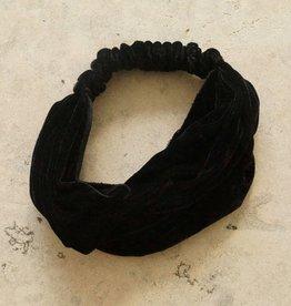 Haarband zwart fluweel