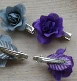 Grijze en paarse bloemklemmetjes (4)