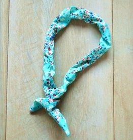 Turquoise bunny haarbandje