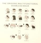 Zwarte brede haarband (multifunctioneel)