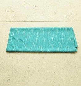 Turquoise brede haarband (multifunctioneel)