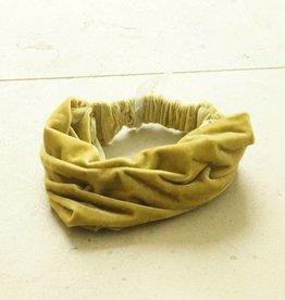 Haarband olijfgroen fluweel